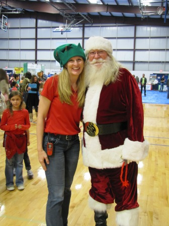 Bridget with Santa